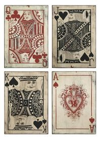 IMAX 97028-4 Leonato Playing Card Wall Decor - Set of 4