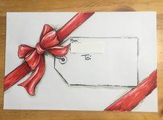 Christmas envelope - Chris Exline OlsonChristmas envelope - Chris Exline OlsonI love the rainbow flowers on the corner of every kraft envelope!I love the rainbow flowers on the corner of every kraft envelope! Hand Lettering Envelopes, Calligraphy Envelope, Envelope Art, Envelope Design, Calligraphy Fonts, Script Fonts, Calligraphy Alphabet, Fancy Envelopes, Mail Art Envelopes