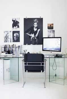 Home office + glass table