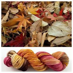3 available ~The colors of Autumn are my favorite! I couldn't resist listing these now. :-) They are similar to my Caramel Apple colorway. Dyed on my most popular worsted skeins.Colors: red, brown, rusty orange, some whiteYards: +- 230 yards (bigger than my normal worsted skeins)Weight: worsted weight Fiber: superwash merino Care instructions: This can be machine washed. To make finished items keep their vibrant colors, hand wash. Lay flat and shape to dry.NOTE:...