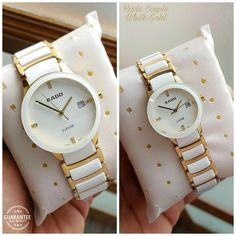 🌟 Rado Brand boxes In-Stock & Couple Watch Ready to ship 🌟  # Rado # For Couple # 7A Only # Jubilee (White Gold) # Features-Working date, full ceramic scratch resistant white n gold chain  ✨ New updated price & Free 2 Rado brand boxes✨  Available @ Rs 3000+Ship (Each Watch)
