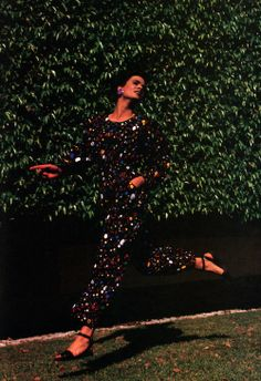 Yves Saint Laurent Variation, American Vogue, April 1985.