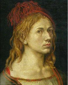 Albrecht  Durer - self portrait 1493.  Louvre.