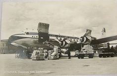 Black & White Postcard Civil Airliners - KLM Douglas DC-6A Liftmaster - 1960s | eBay