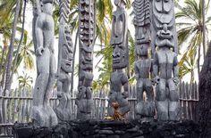 Related image Tiki Statues, Tiki Art, Totem Poles, Hawaiian, Backyard, Abstract, Artwork, Image, Summary