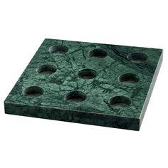 9 T-lysestage, grøn marmor i gruppen Indretningsdetaljer / Dekoration / Fyrfadsstager & Lysestager hos ROOM21.dk (130553)