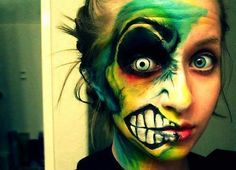 Now that is cool makeup.  Study it closely....
