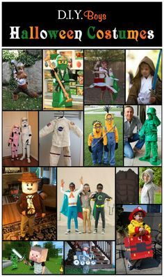 D.I.Y Boys Halloween Costumes:  ANd now our boy will be   set for life...