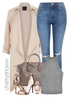 """""""Casual chic spring outfit Kylie Jenner style"""" by cherrysnoww ❤ liked on Polyvore featuring Topshop, Givenchy, Nine West, Ally Fashion, Marc by Marc Jacobs, women's clothing, women, female, woman and misses"""