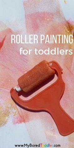 roller painting for toddlers #toddlerpainting #toddleractivity #toddlerfun #toddlerideas