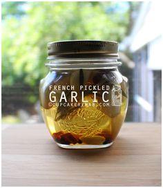French pickled garlic.