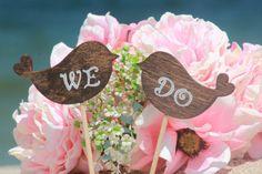 WE DO Love Birds Wedding Cake Topper - Cupcake Topper - Personalized Wedding - Beach wedding - Bride and Groom - Country Chic Wedding