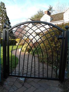 Gothic style garden gate