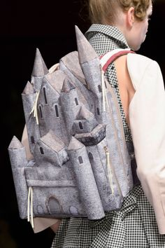 Undercover Spring This is both ridiculous and totally amazingly covetable. Love it Castle rucksack. My Bags, Purses And Bags, Fashion Bags, Fashion Accessories, Paris Fashion, Novelty Bags, Ellie Saab, Unique Bags, Undercover
