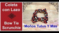 COLETERO CON MOñO Paso a Paso BOW SCRUNCHIES Tutorial DIY How To PAP Vid...