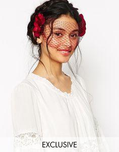 Image 1 ofRock 'N Rose Alexa Halloween Hydrangea Masquerade Veil