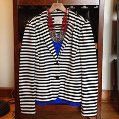 "Selling this ""LOFT striped jacket Sz M"" in my Poshmark closet! My username is: divainjeans. #shopmycloset #poshmark #fashion #shopping #style #forsale #LOFT #Jackets"