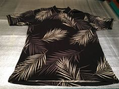 Men's BAMBOO CAY Golf Polo Shirt - Hawaiian Print - Size XL #BambooCay #PoloRugby