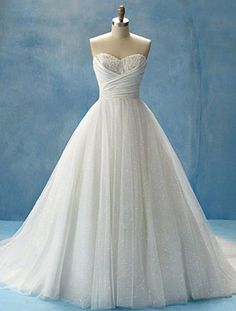 Needneedneed! Cinderella inspired wedding dress.. love the top of this... needs more sparkle though