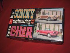 AMT Model 907-170 Sonny / Cher by George Barris Plastic Model BOX ART Box Only #AMT Hobby Kits, Cher, Plastic Models, Box Art, Ebay, Design