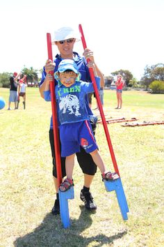 Stilt Walking. There were lots of fun activity and games available at the St Kilda Playground Birthday celebrations including the Life Be in it games. #stkildaplayground @City of Salisbury South Australia 11/11/12