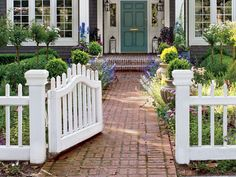 Replacing a hedge with a square-picket fence creates an enclosure without dominating the landscape. For a similar style in easy-care vinyl, look for pickets and posts with steel cores and frames to ensure the gate won't sag. Similar to shown: Chestnut Hill cellular PVC picket fence, about $120 per linear foot; Walpole Outdoors | Photo: Ken Gutmaker