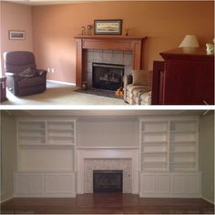 Before And After Shot Of Our Living Room Remodel! Walls: Benjamin Moore  Gray Owl