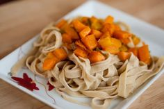 Pumpkin with browned butter and sage over homemade pasta