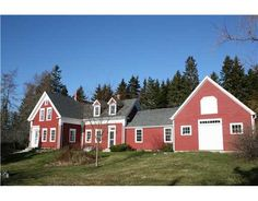 This is the design....but in white with black shutters!  [Red farmhouse on Naskeag Point in Brooklin, Maine.]