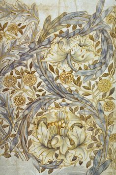 African Marigold textile design (1876) by William Morris (The Textile Blog)