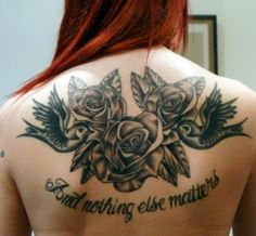 Roses for operation Tribal tattoo coverup