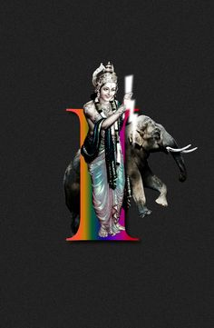 by Sankhalina #36DaysOfType #36DaysOfHinduPantheon #Collage #Illustration #36Days_I