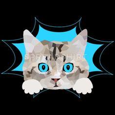 Cute baby kitten cat kitty Women's T-Shirt | Spreadshirt Süßes Baby Kätzchen, Katze guckt raus. Schönes Design für Katzenbesitzer, Katzen Freunde und Katzen Liebhaber. Schreib etwas dazu und erzeuge so ein persönliches Geschenk. Mein Herz sagt miau. Kittens Cutest Baby, Cats And Kittens, Horse Quotes, Cat Hair, I Love Mom, How To Roll Sleeves, Fruit Of The Loom, Cat Gifts, I Love Cats
