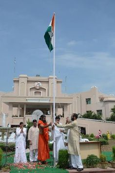 celebration of 69th independence day at patanjali yogpeeth ,Haridwar.