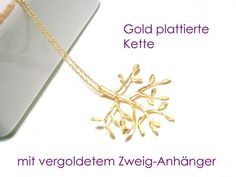 Kette, vergoldet, Halskette Gold platt. von DeineSchmuckFreundin - Modeschmuck und Accessoires auf DaWanda.com
