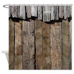 Rustic Old Barn Wood Shower Curtain> Coastal, Vintage and Urban Chic Shower Curtains> Rebecca Korpita Coastal Design