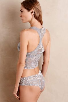 Clo Intimo Long-Line Lace Bra - anthropologie.com