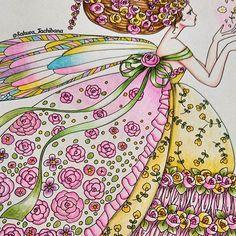 Instagram media sakura_tachibana - 妖精さんアップ。 羽根の色あいがお気に入りです(*´ ˘ `*) 2016/05/14 #コロリアージュ#coloriage #塗り絵#ぬりえ#大人の塗り絵#おとなの塗り絵 #おとなのぬりえ#色鉛筆#お姫さまと妖精のぬり絵ブック#お姫様と妖精のぬり絵ブック#田代知子 #adultcoloring#adultcoloringbook#coloringforadults#colorpencil#princessesandfairiescolouringbook