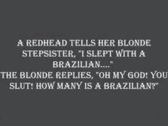 Blonde joke Oh wow I love blonde jokes