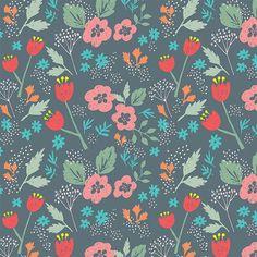 Pattern- Hand Drawn Flowers// - Erica Sharp Illustration