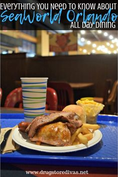SeaWorld Orlando offers All Day Dining. Check out this post on www. for Everything You Need To Know About SeaWorld Orlando All Day Dining. Orlando Travel, Orlando Disney, Orlando Vacation, Downtown Disney, Cruise Vacation, Disney Cruise, Vacation Destinations, Seaworld Orlando, Disney World Florida