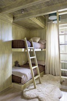 Built in Bunk beds - good idea, but there are not any guard rails to keep little ones from falling.