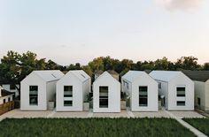 Modern row houses in Houston, Texas