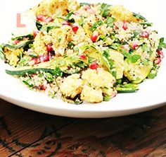 Quinoa Salad W/ Roasted Cauliflower, Zucchini & Pomegranate - The Home Journal