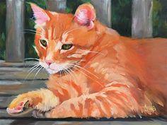 "Daily Paintworks - ""My Garden Spot"" - Original Fine Art for Sale - © Andrea Jeris"