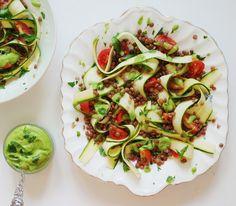 Euphoric Vegan: Zucchini Ribbon & Lentil Salad