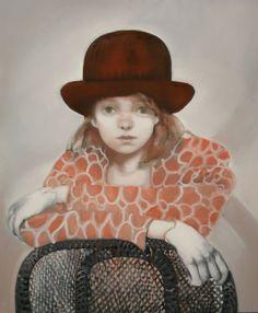 meisje met bolhoed Cowboy Hats, Painting, Fashion, Shop Signs, Moda, La Mode, Painting Art, Paintings, Fasion
