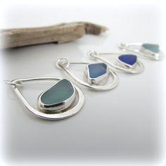 Sea glass necklace. Sterling silver necklace. by SusanaStudio