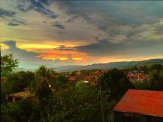 Beautiful sunset overlooking Tarapoto, Peru. Will be here next month. ;)
