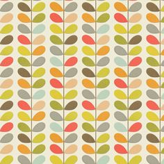 The well known multi stem design of Orla Kiely's is here as a contemporary stylish wallpaper. Shown in multi-coloured on a off white background - more colours are available. Paste-the-wall product. Room Color Design, Orla Keily, Designer Wallpaper, Wallpaper Designs, Floral Embroidery Patterns, Green Sofa, Kitchen Wallpaper, Inspirational Wallpapers, Original Wallpaper